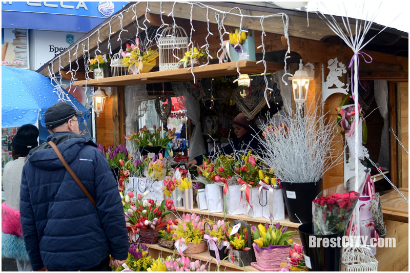 Цветы к 8 марта в Бресте. Сколько стоят тюльпаны и мимозы?
