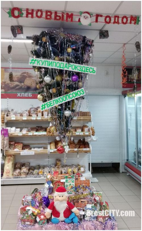 Елка в магазине в Дрогичине