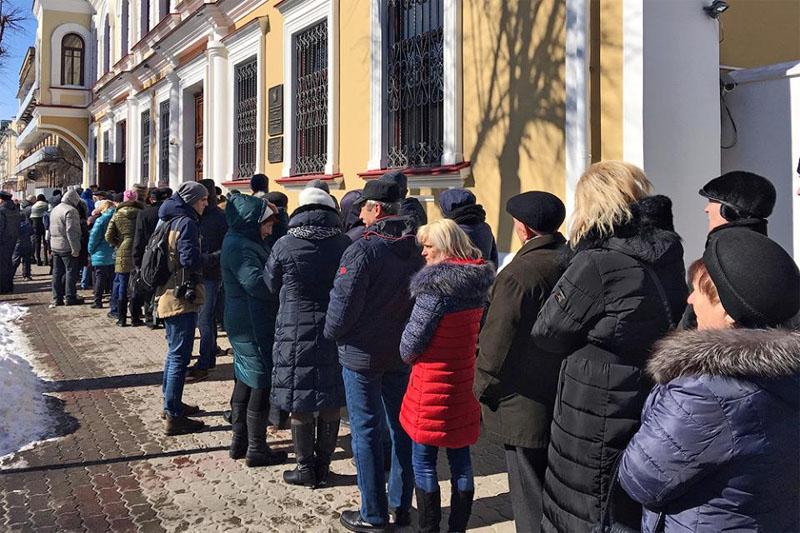 Видеофакт: как голосовали на выборах президента России в Бресте