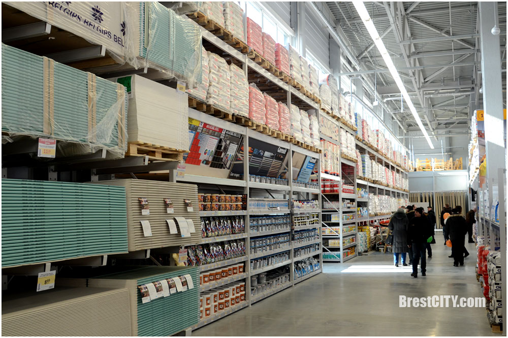 """Строительный гипермаркет """"Материк"""" в Бресте. Большой фоторепортаж с открытия. Цены"""