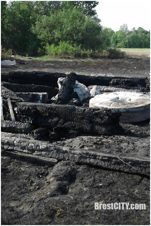 Подожгли? В д.Лесники сгорела старая мельница, которая была причиной раздора