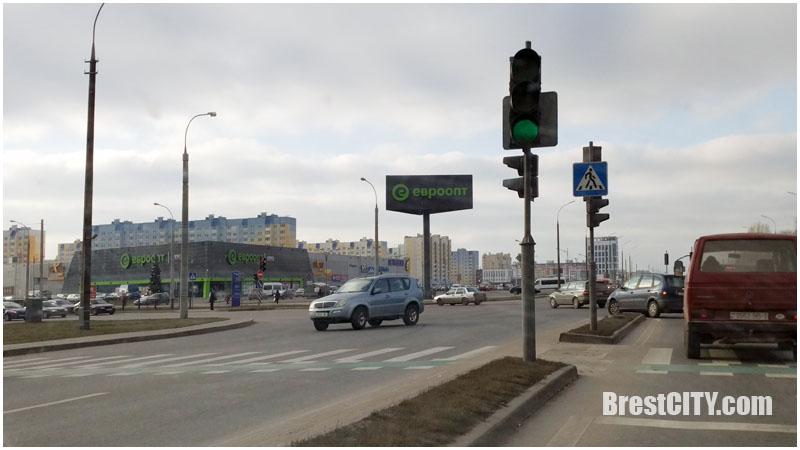 Сняли стрелки со светофоров на перекрестке Краснознаменная-Варшавское шоссе