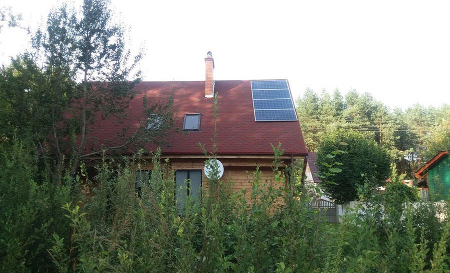 Дом на солнечных батареях возле Бреста