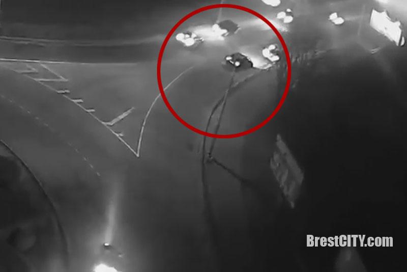 Соскоростью 115 км/ч поночному Бресту: детали задержания лихача на БМВ