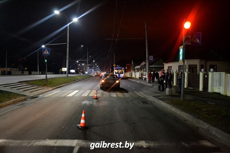 Авария на Зеленой в Бресте 4 января