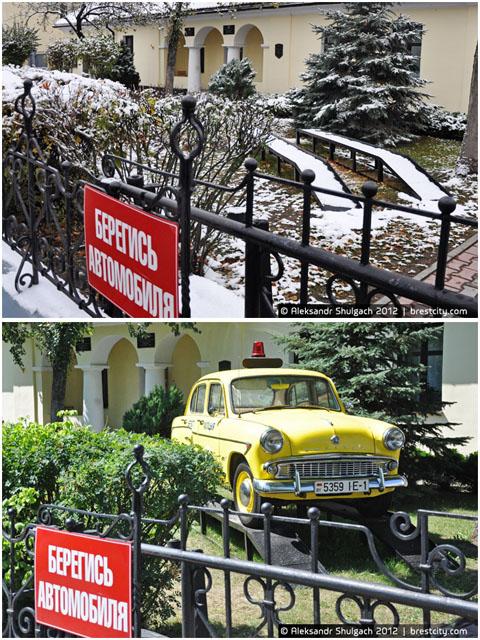 Раритетный Москвич на улице Леваневского в Бресте