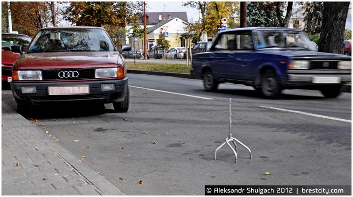 Самовольный захват парковочного места