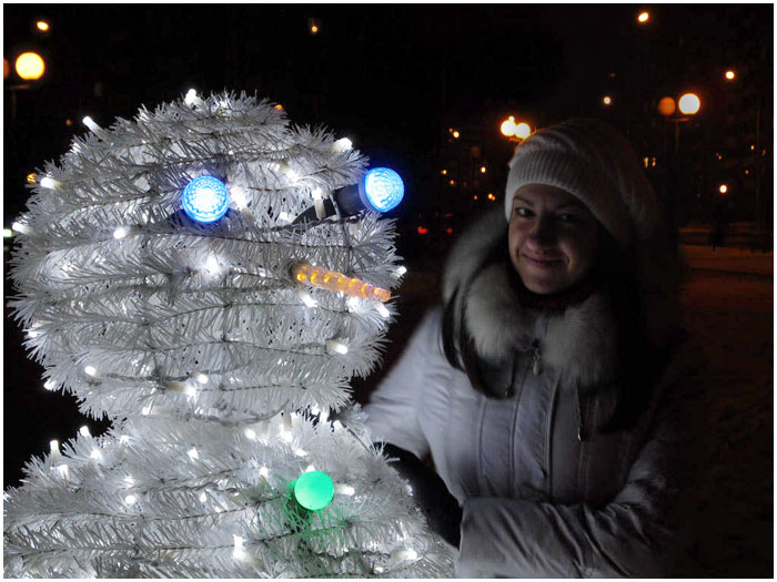 Снеговик от Горсвета в Бресте