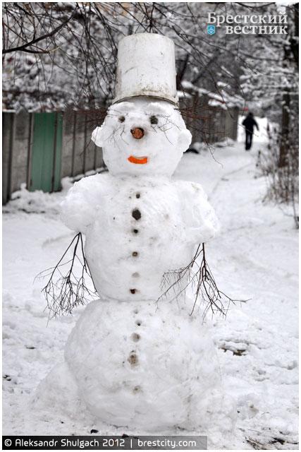 День снеговиков в Бресте