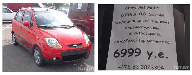 Цены на авторынке в Бресте