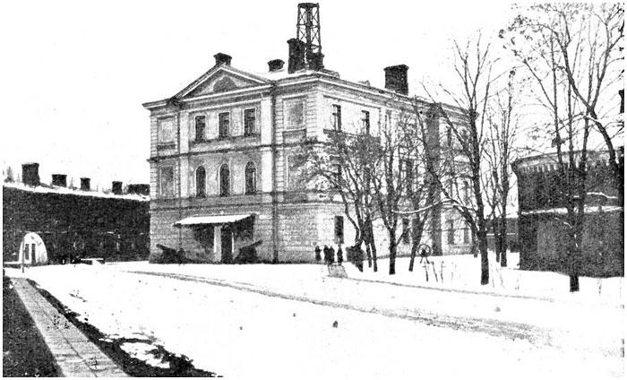 Белый дворец в Брестской крепости. Фото начала XX века