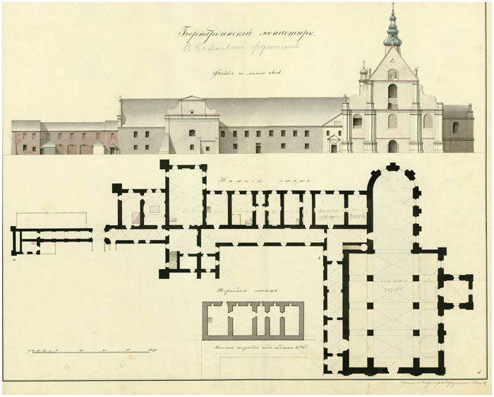План Бернардинского монастыря в Бресте