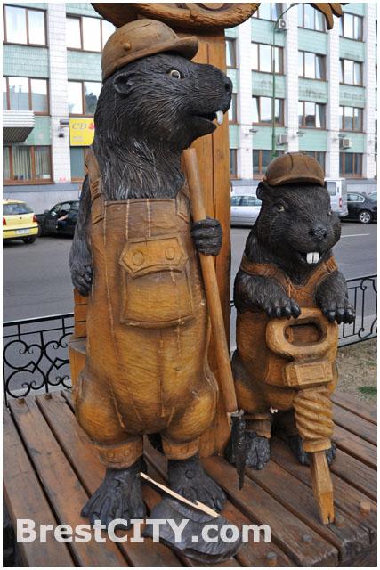 Бобер-строитель на бульваре Шевченко остался без лопаты