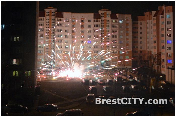 Брест встретил новый год 2014.