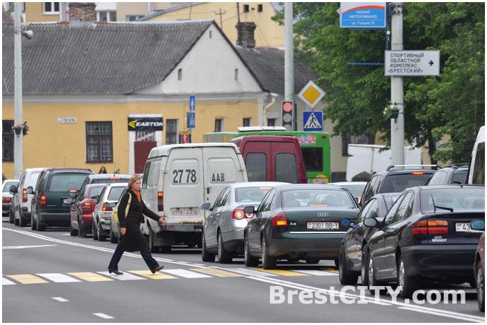 Авария в Бресте на перекрестке Ленина и Гоголя