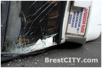 Авария. Маршрутка в Бресте сбила пешехода 3 ноября 2013