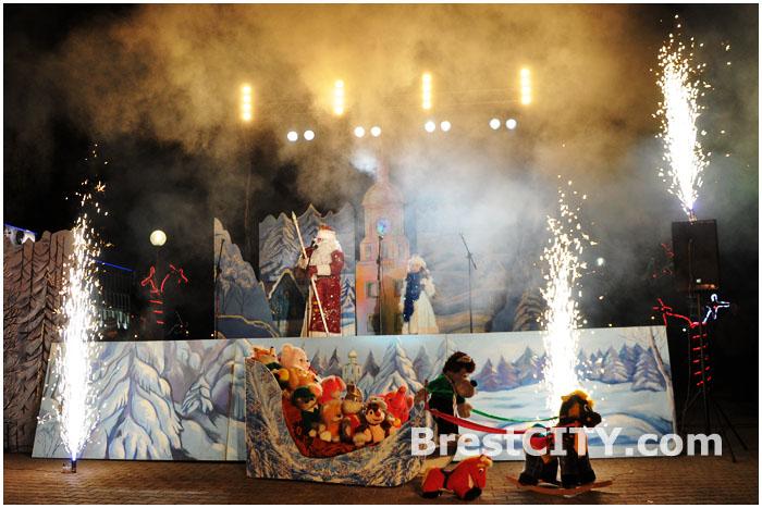 Открытие елки Московского района Бреста 20.12.2013