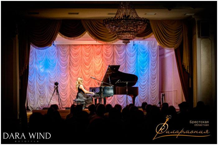 Концерт пианистки австралии Эмбы Хаммонд в Бресте