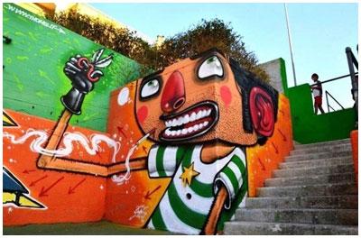 Конкурс графиити в Бресте. Кинотеатр Мир