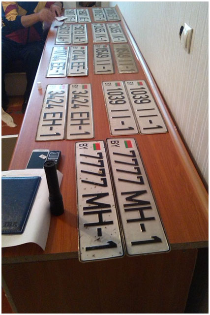 Кража автомобильных номеров в Бресте