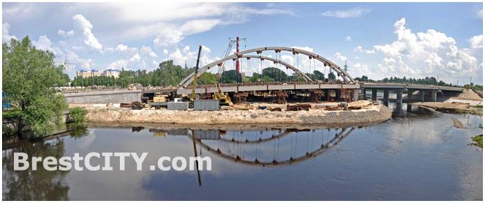 Строительство моста возле Брестской крепости. Западный обход