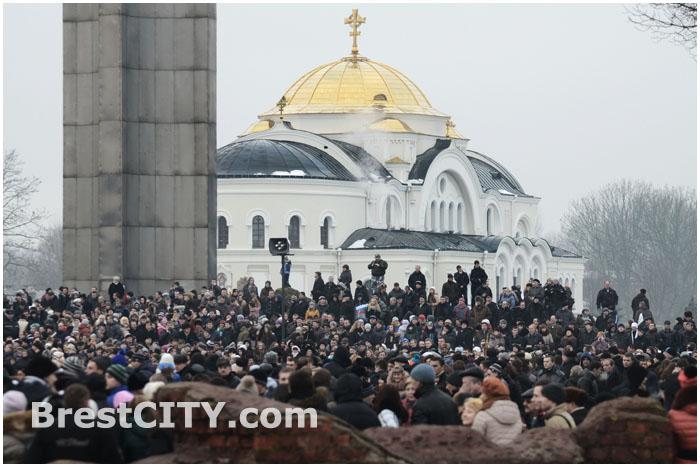 Принятие присяги в Брестской крепости 14 декабря 2013