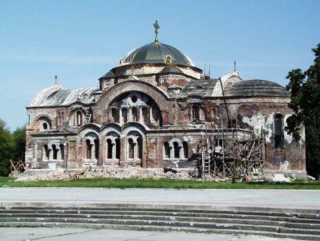 Начало реконструкции храма в Брестской крепости