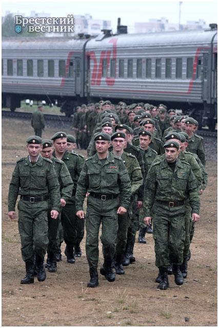 Таманская дивизия на учениях в Бресте