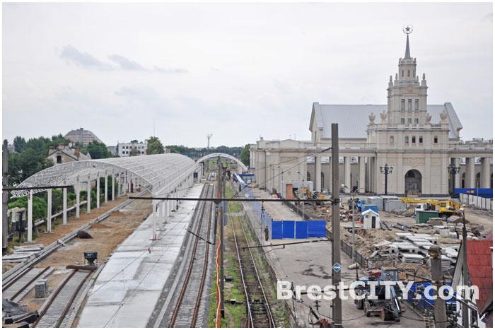 Реконструкция жд вокзала в Бресте. Варшавская сторона