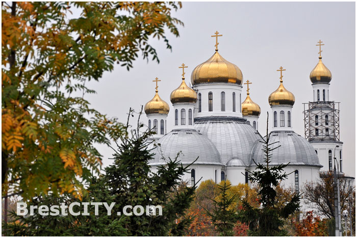 Золотые купола Свято-Воскресенского собора в Бресте