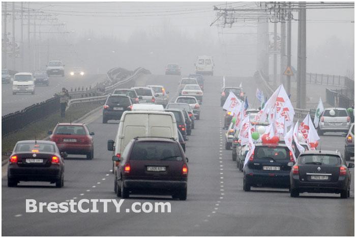 Автопробег в защиту жизни с момента зачатия в Бресте 8 марта 2014г. Фото: BrestCITY.com