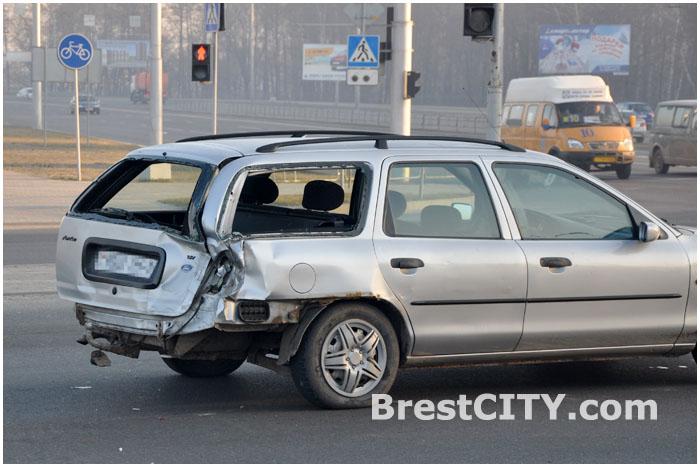 Авария с участием четырех автомобилей в Бресте 11.04.2014