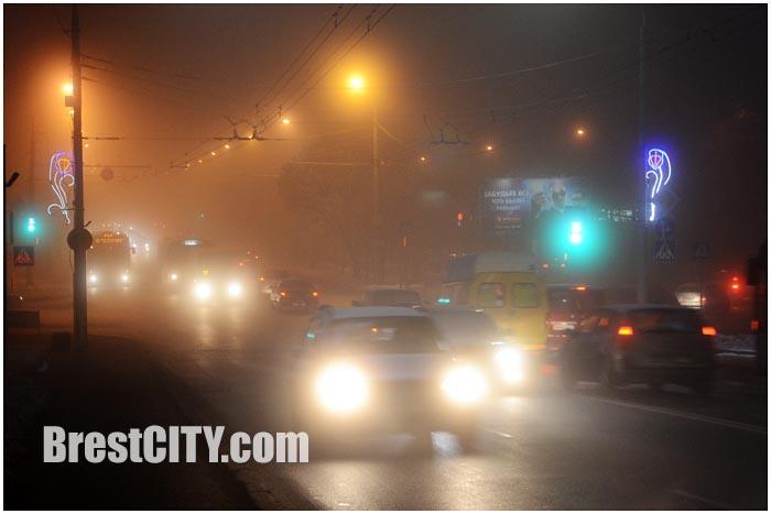 Город Брест в тумане