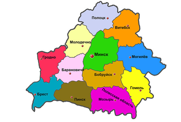 Территория БССР после 1944 года