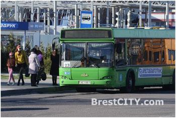 Городской автобус №23 в Бресте
