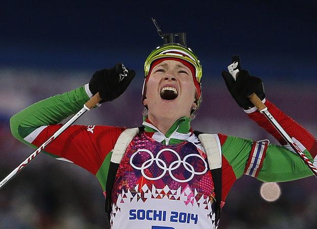 Дарья Домрачева на олимпиаде в Сочи 2014