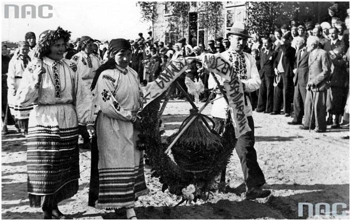 Дожинки в Бресте 30-е годы XX века