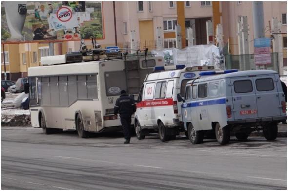 В троллейбусе толкнули женщину в Бресте