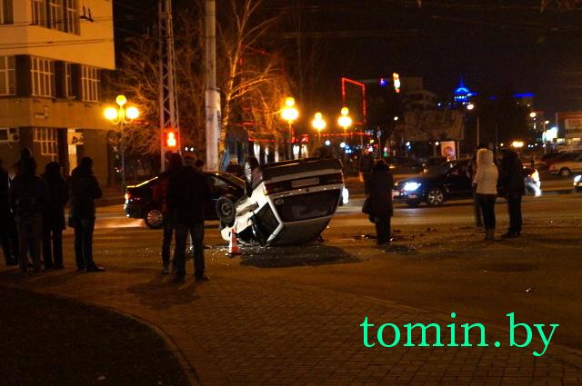 Авария в Бресте 25.02.2014 возле Беларусбанка