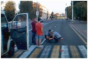 В Бресте на площади Ленина сбили девушку