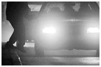 Ночью сбили пешехода четыре автомобиля