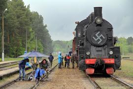 Съемки фильма Прерванные воспоминания на станции Дубица возле Бреста