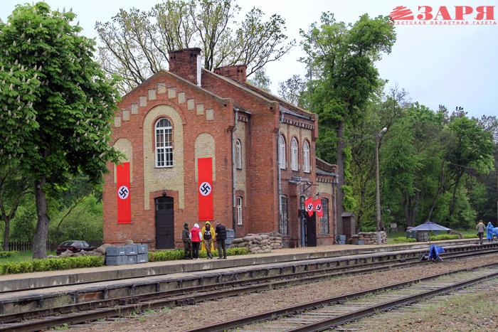 Съемки фильма на станции