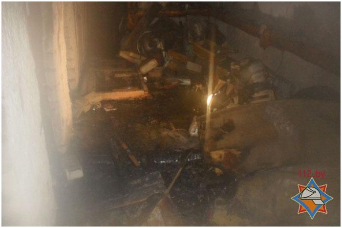 Пожар в подвале жилого дома в Бресте