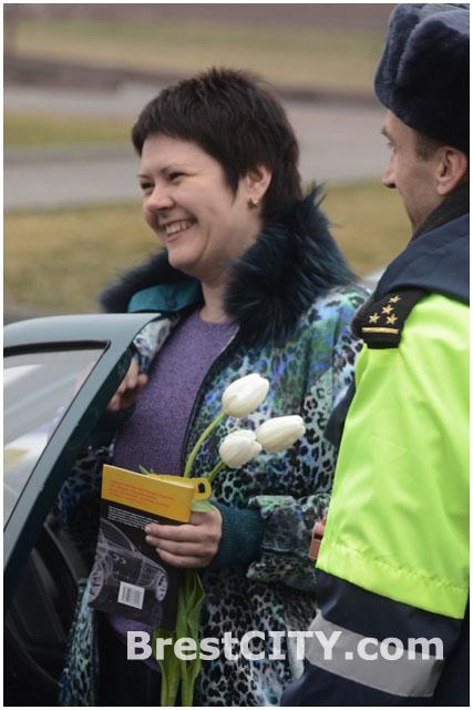 ГАИ Брестской области поздравляет с 8 марта женщин. 2014