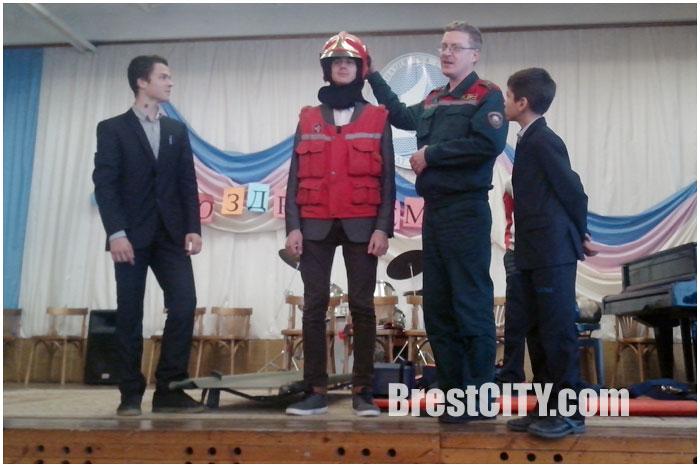 Пожар в гимназии №4 города Бреста