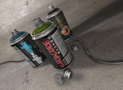 Баллончик с красками для граффити