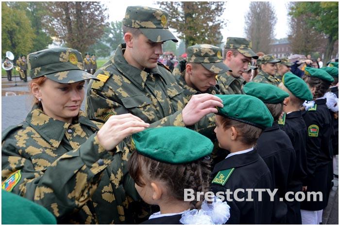 Посвящение в кадеты пятиклассников средней школы 31 в Бресте