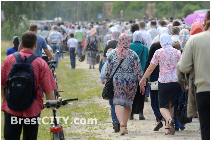 Крестный ход в Бресте 29 июня 2014