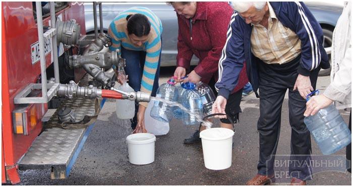Авария в водопроводной система Бреста. Граевка